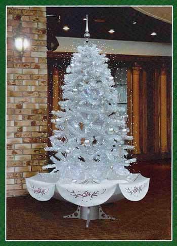 Из чего сделать белую елку
